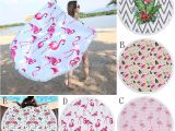 Bath towel Vs Bath Sheet Dimensions 2019 Flamingo Beach towel 150 150cm Round Tassels Picnic Blanket