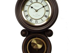 Battery Operated Clock Movements with Pendulum and Chime Amazon Com Bedford Clock Collection Contemporary Round Wall Clock