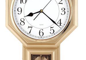 Battery Operated Clock Movements with Pendulum and Chime Amazon Com Traditional Schoolhouse Easy to Read Pendulum Wall Clock