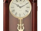 Battery Operated Clock Works with A Pendulum Amazon Com Howard Miller 625 253 Everett Wall Clock Home Kitchen
