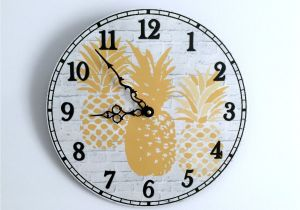 Battery Operated Grandfather Clock Works A Pineapple Wall Clock for Your Modern Cottage Kitchen This Unique