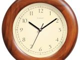 Battery Operated Grandfather Clock Works Amazon Com Chaney 75171 Poplar Wood Wall Clock 8 Home Kitchen