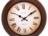 Battery Operated Grandfather Clock Works Amazon Com Kiera Grace Doone Round Wall Clock 16 Inch 2 Inch Deep