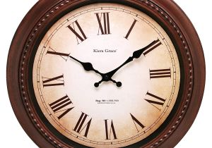 Battery Operated Grandfather Clock Works Amazon Com Kiera Grace Doone Round Wall Clock 16 Inch 2 Inch Deep