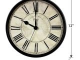 Battery Operated Grandfather Clock Works Amazon Com Omeya Wall Clock 12 Inch Silent Non Ticking Clock Quarzt