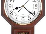 Battery Operated Grandfather Clock Works Amazon Com Traditional Schoolhouse Easy to Read Pendulum Plastic