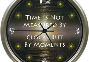 Battery Operated Grandfather Clock Works Time Measured by Moments Handmade 8 75 Diameter Custom Photo Wall