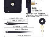 Battery Powered Clock Movements for Sale Mudder Diy High torque Clock Mechanism 3 10 Inch Maximum Dial