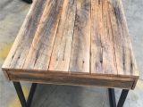 Beechwood Folding Bed Tray with White Laminate top Recycled Timber Palings Industrial Coffee Table Made by