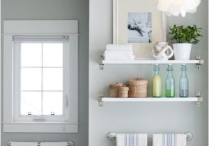 Benjamin Moore Arctic Gray Ikea Shelf Cottage Bathroom Benjamin Moore Arctic