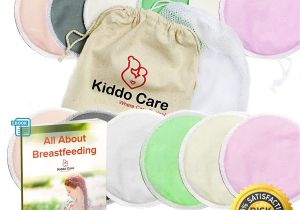 Best Breast Pads after Delivery Kiddo Care Washable organic Bamboo Nursing Pads 12 Pack Colored 6