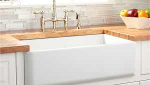 Best Farmhouse Sink for the Money 33 Grigham Reversible Fireclay Farmhouse Sink White Kitchen