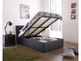 Big Fig Mattress Reviews Caspian Ottoman Gas Lift Up Storage Bed Black 3ft Single Amazon