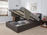 Big Fig Mattress Reviews Caspian Ottoman Gas Lift Up Storage Bed Brown 4ft6 Double Amazon