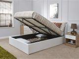 Big Fig Mattress Reviews Caspian Ottoman Gas Lift Up Storage Bed White 5ft Kingsize Amazon