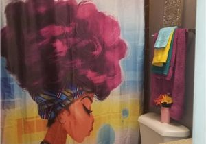 Black Girl Magic Shower Curtain Afro African Black Girl Magic Shower Curtain Gojeek