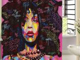 Black Girl Magic Shower Curtain Afro Black Girl Magic Shower Curtain 2