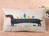Blank Canvas Pillow Covers wholesale Canada 30x50cm Dachshund Dog Cushion Cover Sausage Dog Puppy Pillow Case