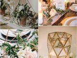 Bodas Sencillas Y Economicas En Casa Trending 20 Industrial Geometric Wedding Centerpieces for 2019