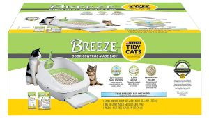 Breeze Odor Control Litter Box Reviews Amazon Com Purina Tidy Cats Breeze Cat Litter System Starter Kit