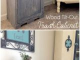 Build A Kitchen Cabinet Free Plans Wood Tilt Out Trash Can Cabinet Home Trash Can Cabinet Home