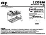 Bunk Bed assembly Instructions Pdf Dhp Twin Over Twin Metal Bunk Bed Multiple Colors