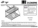 Bunk Bed assembly Instructions Pdf Dorel Twin Over Full Metal Bunk Bed Multiple Colors