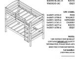 Bunk Bed assembly Instructions Pdf Mainstays Twin Over Twin Wood Bunk Bed Multiple Finishes