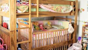 Bunk Bed with Crib Underneath toddler Bunk Bed with Crib Woodworking Projects Plans