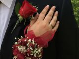 Burgundy Corsage and Boutonniere 38 Best Images About Homecoming Flowers On Pinterest