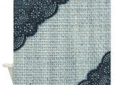 Burlap and Lace Shower Curtain Ocean Blue Burlap and Lace Shower Curtain by Listing Store