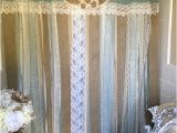 Burlap Shower Curtain with Lace 72 Shabby Rustic Chic Burlap Shower Curtain Lace Ruffles