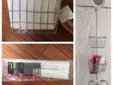Can You Put A Clawfoot Tub In A Small Bathroom My Clawfoot Tub Shower Storage Life Hack Bathroom Ideas In