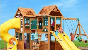 Cedar Summit Kingsbridge Playset Cedar Summit Kingsbridge Playset Do It Yourself
