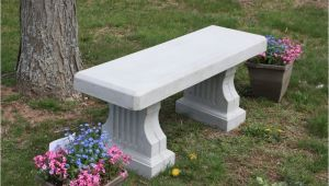 Cement Benches for Graveside Concrete Coliseum Bench W Straight Seat Site Furnishings