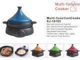 Certified Lead Free Slow Cooker Tajin Lid Multifunctional Cooker Kitchen Appliances Xj