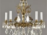 Chandelier Crystals Hobby Lobby Spanish Brass Crystal Chandelier C1950 Vintage Antique Gold French