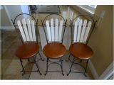 Charleston forge Iron Bar Stools Charleston forge Antique Pewter Iron 3 Swivel Bar Stools