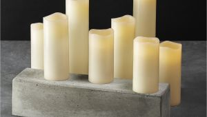 Cheap Ivory Pillar Candles Bulk Amazon Com 8 Ivory Slim Flameless Candles with Warm White Leds