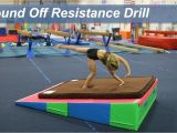 Cheese Mats for Tumbling Round Off Resistance Drill Gymnastics Pinterest Gymnastics