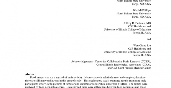 Chinese Delivery Places Fargo Nd Pdf How Neophilics See Food Differently Evidence From Fmris