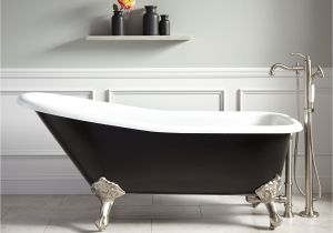 Clawfoot Tub Small Bathroom Design 66 Goodwin Cast Iron Clawfoot Tub Imperial Feet Black In 2019
