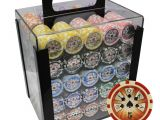 Clay Poker Chip Sets 1000 1000 14g High Roller Clay Poker Chips Set Acrylic Case Ebay