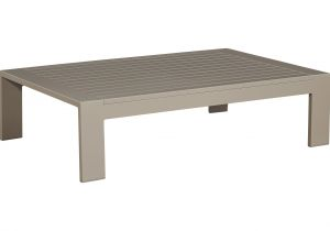 Cocktail Table or Coffee Table solana Taupe Outdoor Cocktail Table Outdoor Coffee Tables Metal