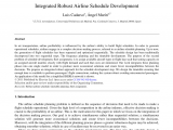 College Of Marin Academic Schedule Pdf Integrated Robust Airline Schedule Development