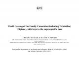 College Of Marin Library Catalog Pdf World Catalog Of the Beach Fly Family Canacidae Diptera