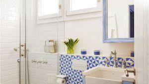 Colores Para Banos Modernos Baa O Con Ducha Y Mampara Bajolavabo Azul Patinado Y Mosaico