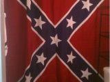 Confederate Flag Shower Curtain Confederate Rebel Battle Flag Shower Curtain 70 X 72 Inches