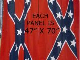 Confederate Flag Shower Curtain Rebel Flag Curtains Each Panel is 47 Inch by 70 Inch with