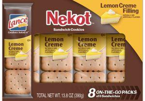 Cookie Delivery Bryan College Station Lance Nekot Lemon Creme Sandwich Cookies 8 Ct Walmart Com